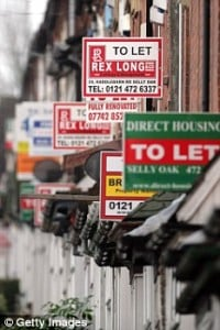 Row of buy to let signs