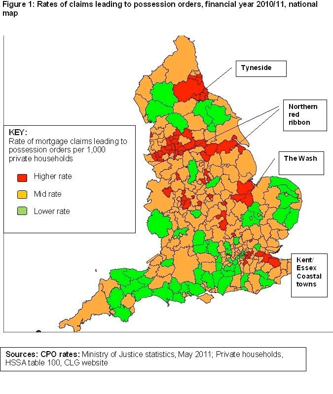 Repossession hotspots highlight homes at risk