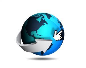 Globe representing internet search