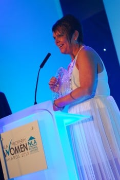 Yvonne Hall NLA Property Woman of the Year 2012