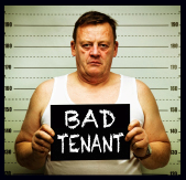 My tenant stabbed his wife and trashed my property