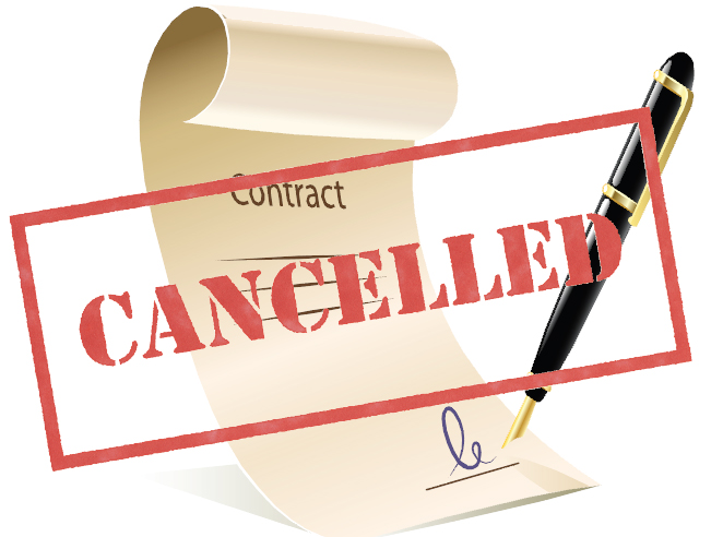 End of contract with letting agent and end of tenancy