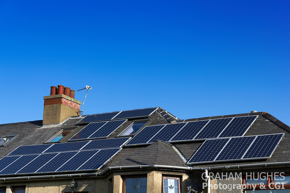 Solar panels on rented houses