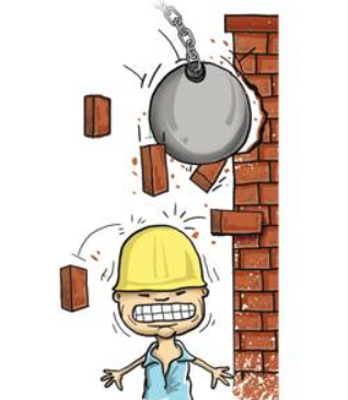 Liability of brick falling onto Neighbour