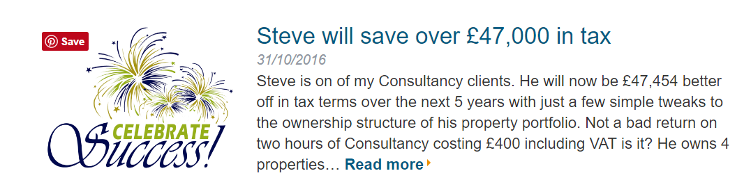 Tax Consultancy for Landlords