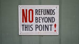 When is a non refundable application fee refundable on a mortgage turned down?
