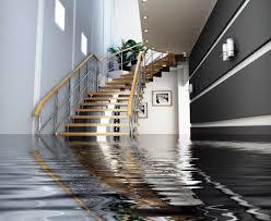 Water damage in apartment block