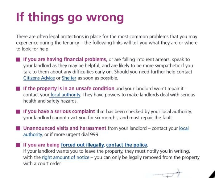 If you have a serious complaint your Landlord cannot evict you for 6 months!