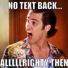 no text back