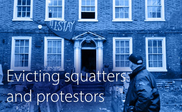Free CPD webinar on evicting squatters and activists