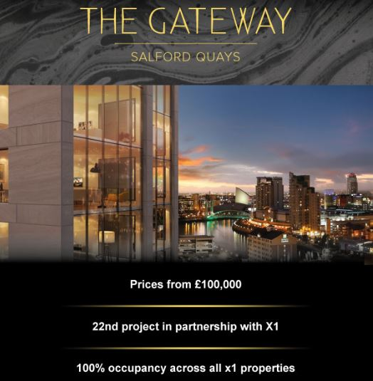 The Gateway Buy to Let Salford Quays – 100% occupancy across 22 developments!