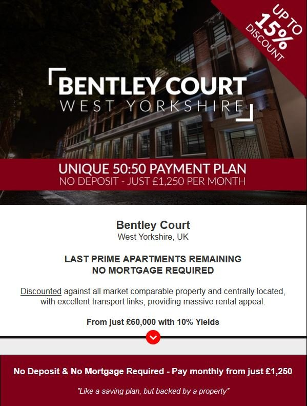 West Yorkshire Buy to Let from £60,000 and with 10% Yields