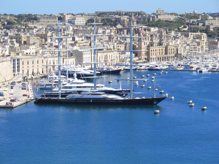 The Maltese Falcon at Grand Harbour Marina, Birgu