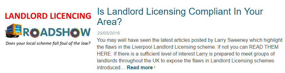 Landlord Licensing Roadshow