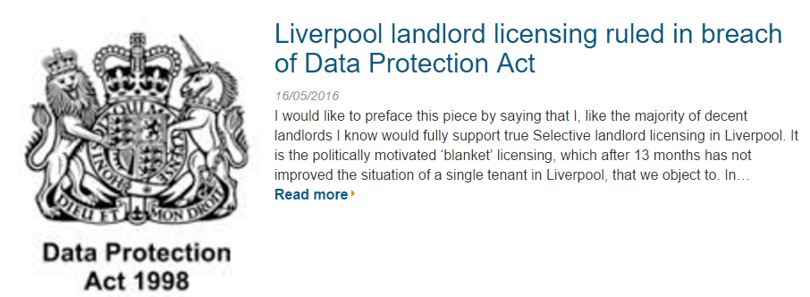 Liverpool Landlord Licensing 2