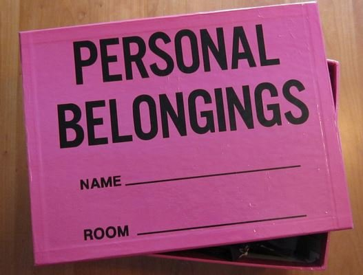 Getting rid of personal belongings?