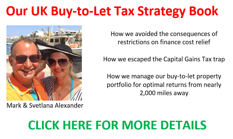 Our UK Buy To Let Tax Strategy