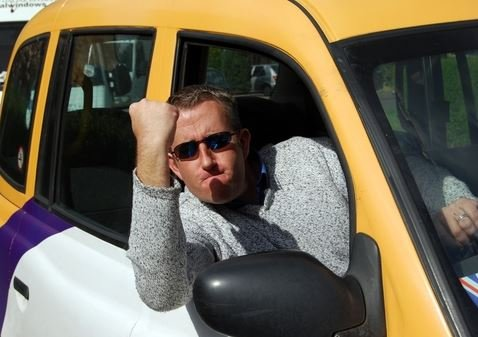 angry taxi Driver