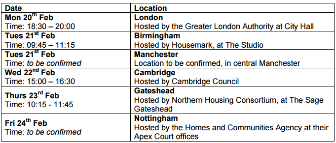 Meet The Housing Minister - Tell Him What You Think