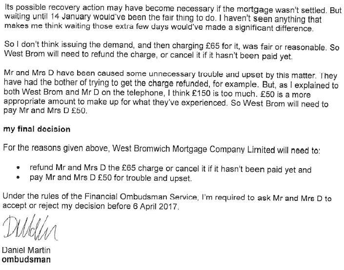 Ombudsman letter 2