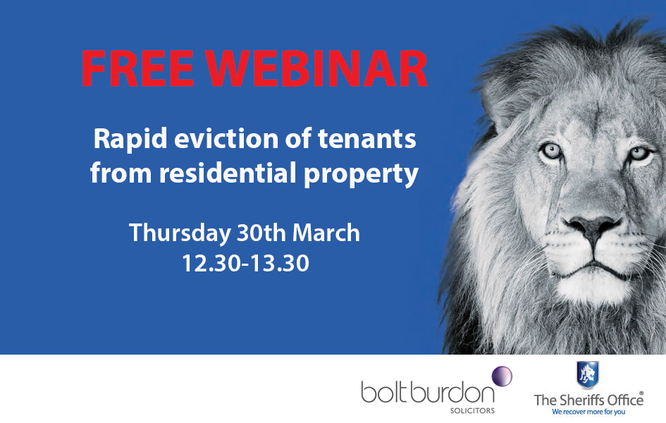 Free webinar on the rapid eviction of tenants from residential property