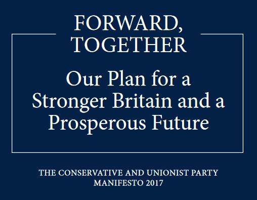 Conservative Manifesto 2017 for the PRS