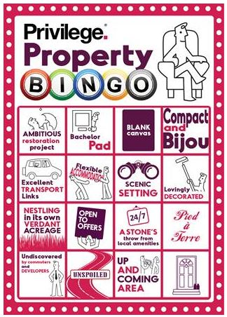 Estate Agent Property Bingo sweeping the nation