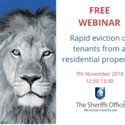 Webinar – Rapid eviction of tenants