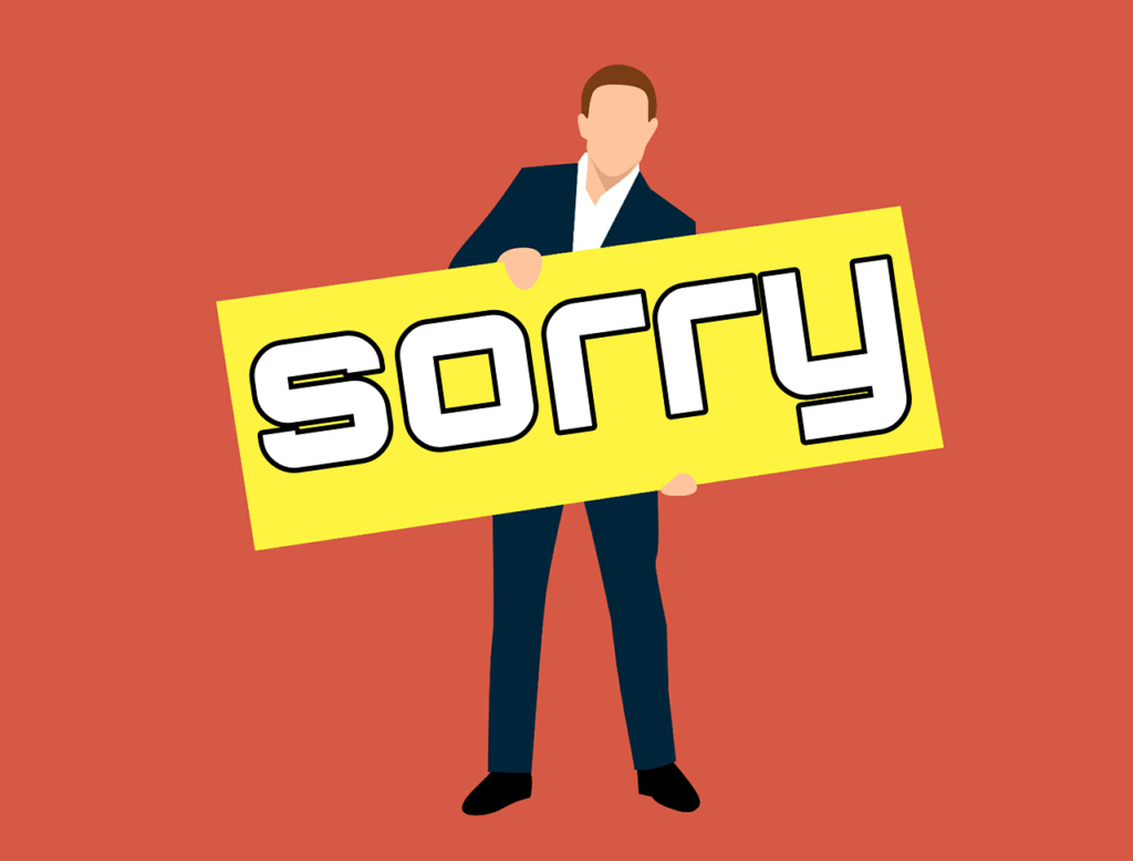 A sorry state of affairs – Tenant apologises to landlord