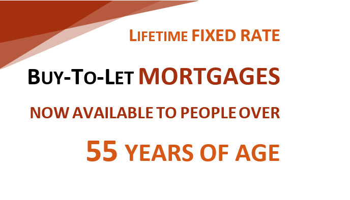 Lifetime fixed buy-to-let mortgages where max LTV increases the older you are
