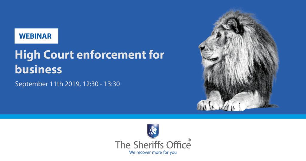 High Court enforcement for business – Webinar