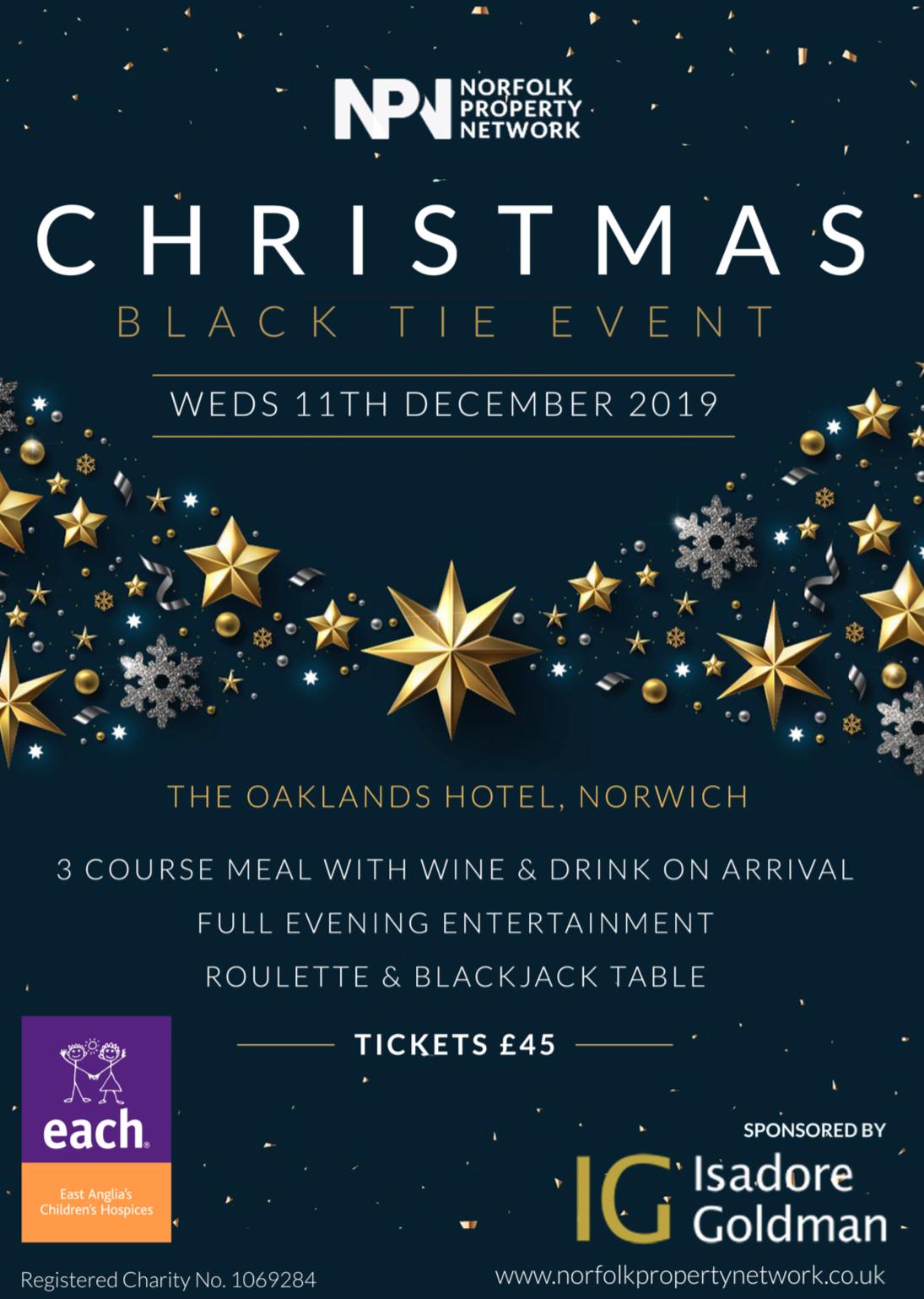 Charity Black Tie Christmas NPN Wednesday 11th December