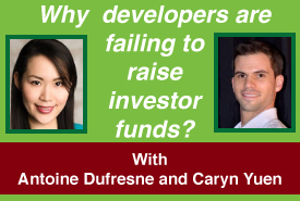 Why are developers failing to raise private investors funds?