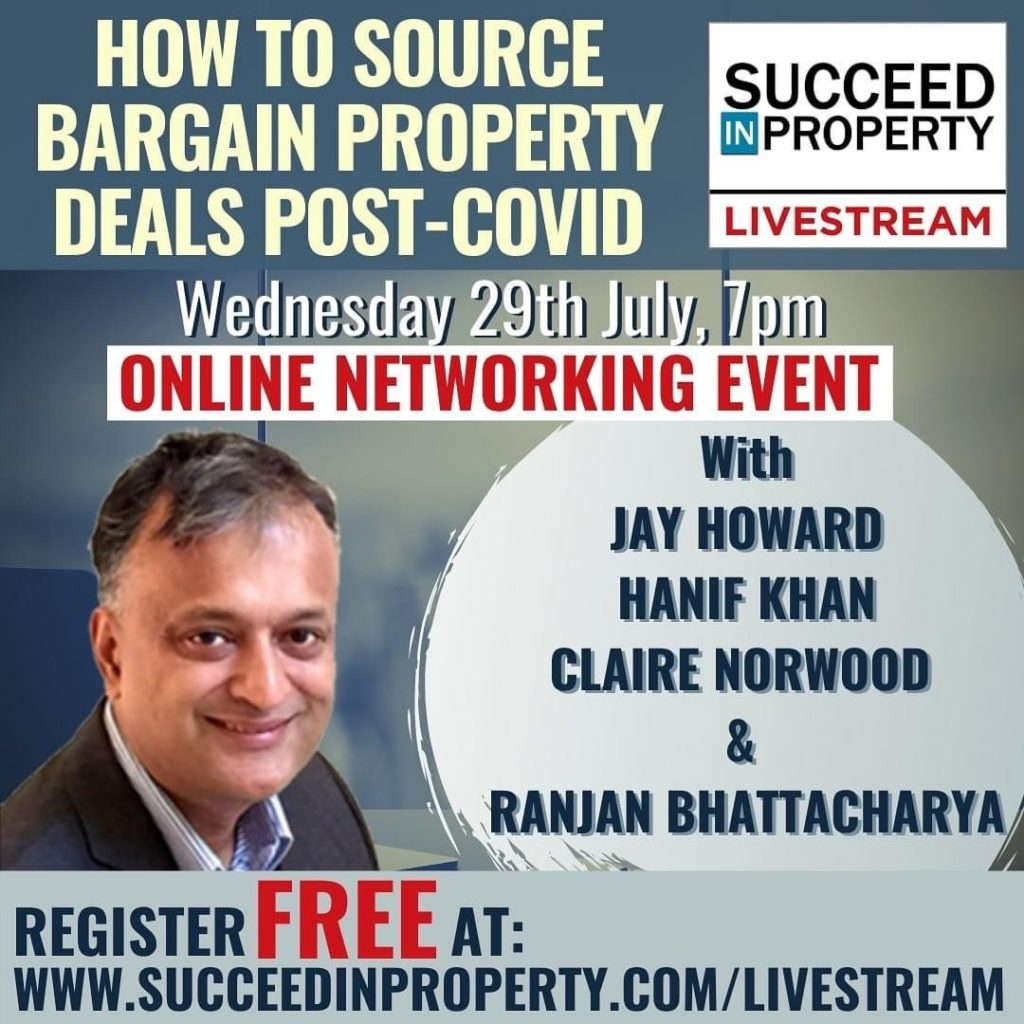 How to Source Bargain Property Post-Covid – Wednesday 29th July