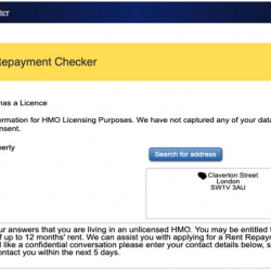 Westminster online tool encouraging HMO tenants to claim Rent Repayment Orders!