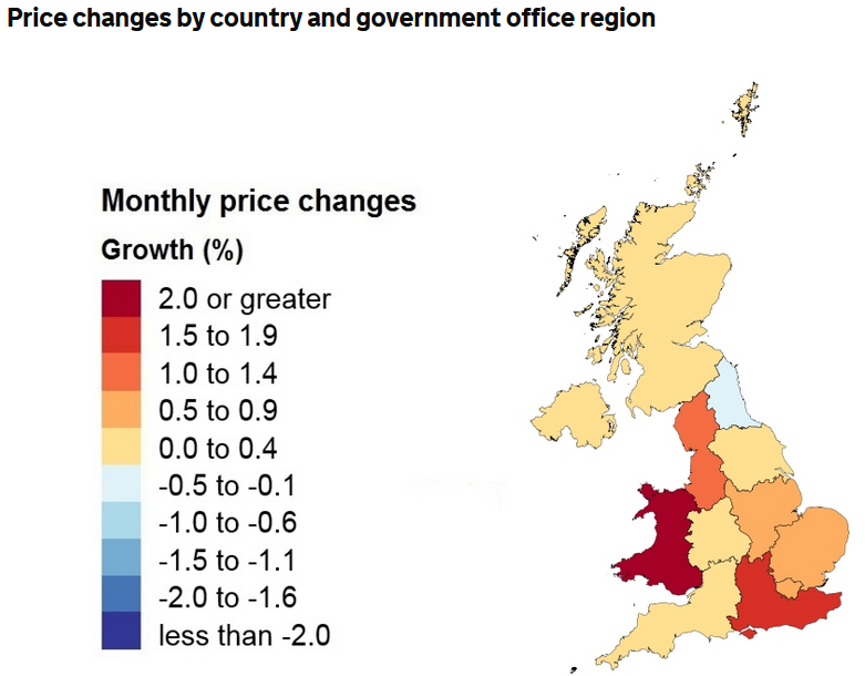 ONS UK House Price Index for August 2020 up 0.7%
