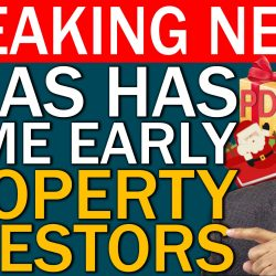 Government Announces that XMAS Comes Early For Property Investors & Developers